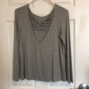 Grey top with a secret in back!